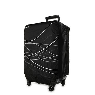 #Black / Foldable Luggage Cover S