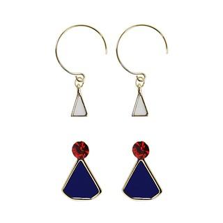 Bebe Triangle Earrings DUO set