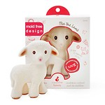 MIA THE BABY LAMB NATURAL RUBBER TEETHER TOY(WHITE)