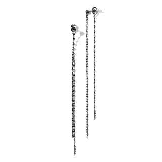 230 shiny chain clutch drop earring
