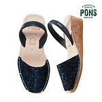 #36/235mm / WOMENS 2031 WEDGE GLITTER DEEP BLUE