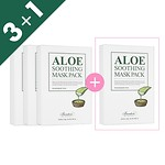 [3+1]ALOE SOOTHING MASK PACK, 10PCS