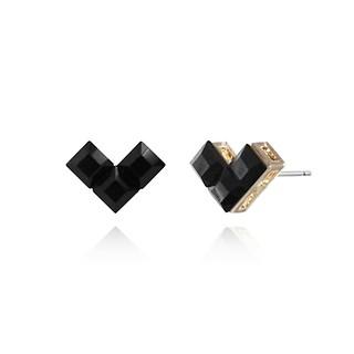 #BLACK / Heart Lego Earring
