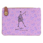 Bonnie Walking Canvas Turnlock Pouch 26 B4/PURPLE
