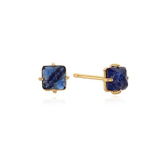 #SAPPHIRE / FRENCH STONE EARRING
