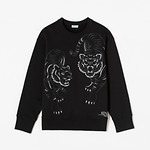 #BLACK / DOUBLE TIGER EMBROIDERY JU_WOMEN M