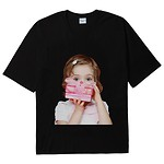 #BLACK / BABY FACE SHORT SLEEVE T-SHIRT BLACK GIFT / 1