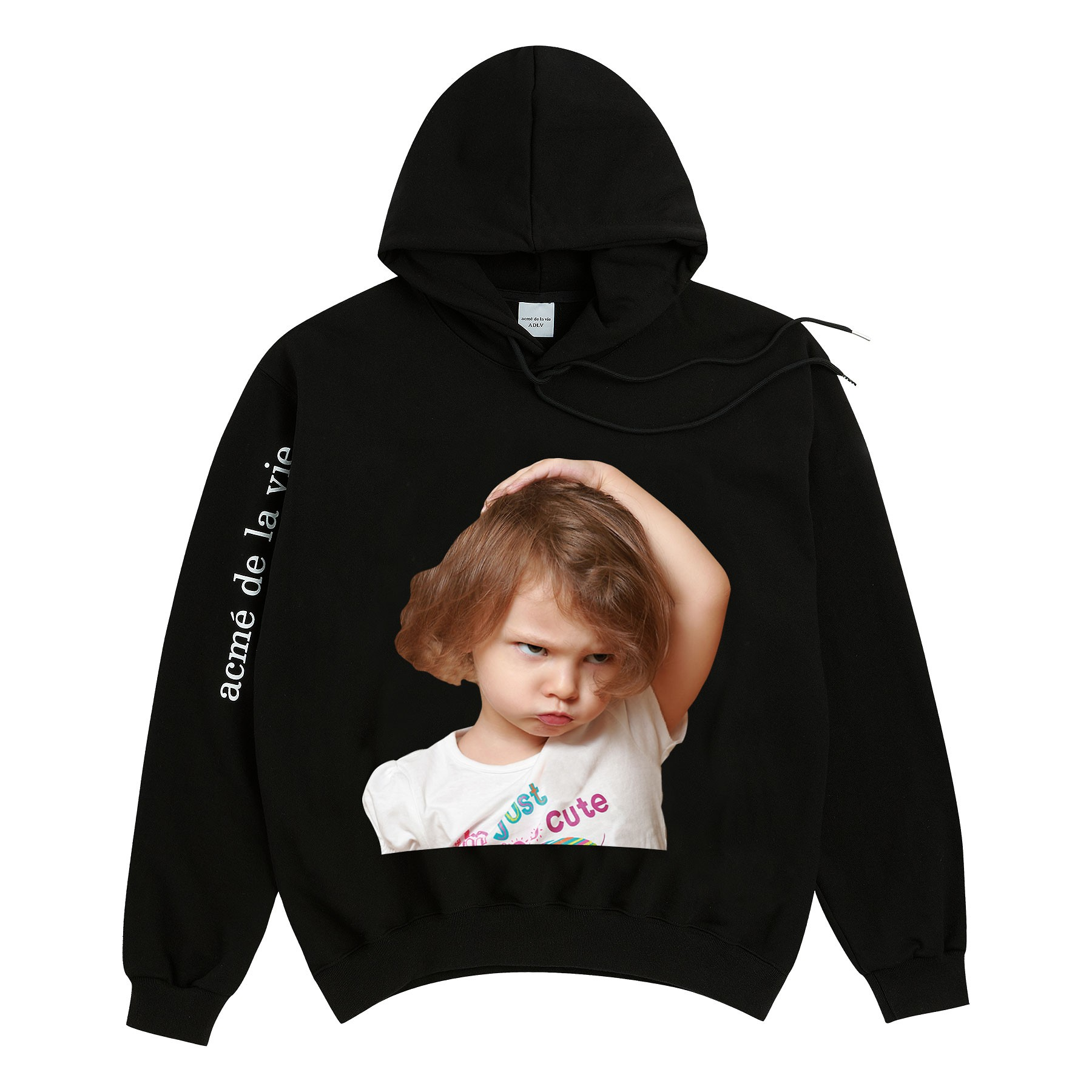#BLACK / BABY FACE HOODIE BLACK WHITE T-SHIRT CHILD / 1