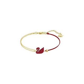 ICONIC SWAN:BRACELET INSI/CRY/GOS RED M