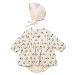 #BE / CHARACTER BONNET SET BODY SUIT 80