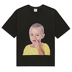 #BLACK / BABY FACE SHORT SLEEVE YELLOW T-SHIRTS BLACK / 1