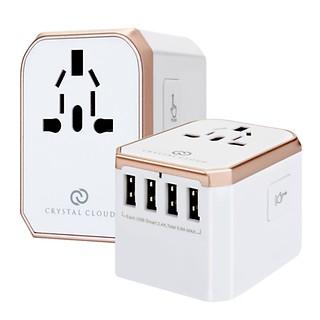 #로즈골드 / 5포트 USB 5.6A 전세계 여행용 멀티어댑터