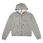 #DOVE GREY / TIGER HOODED ZIPPED BLOUSON _WOMEN M (050816004618)