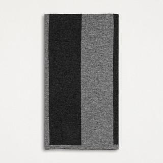 #Dark Grey/Grey / CASHMERE COLOR BLOCK KNIT SCARF