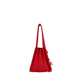 #BARBADOS RED / Lucky Pleats Knit S