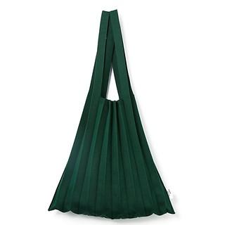 #Deep Green / Knit Pleats Shoulder Bag