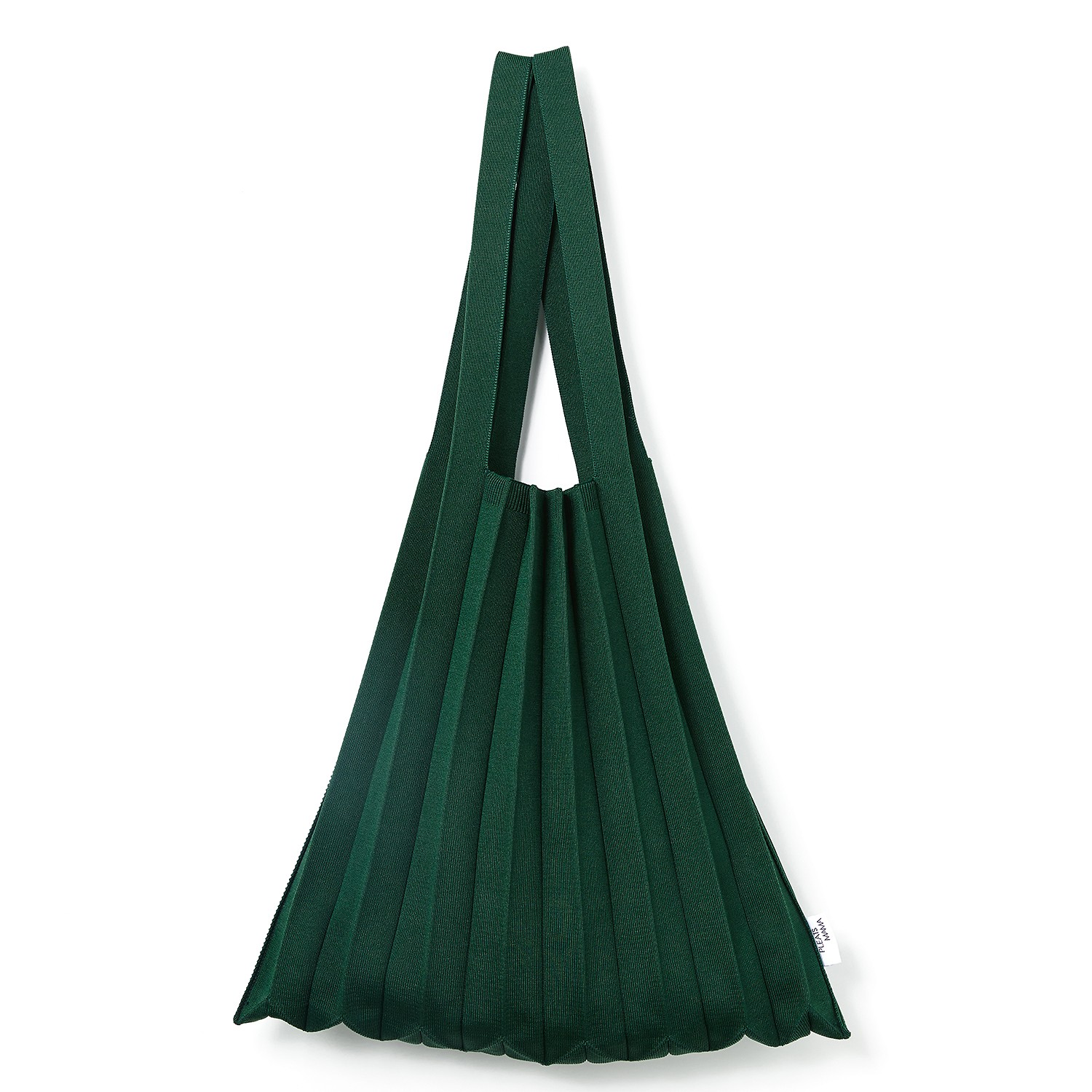 #Deep Green / Knit Pleats Shoulder Bag