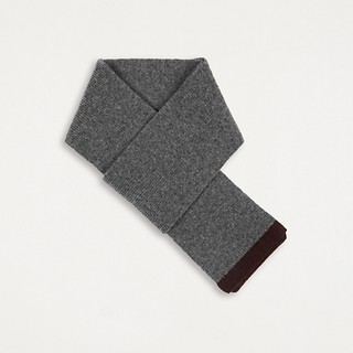 #Mid Grey/Red Brown / CASHMERE COLORED EDGE SCARF
