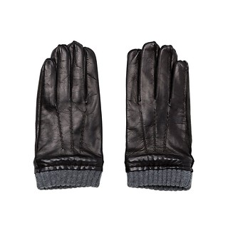 #Black / MADGOAT TOUCH LEATHER & CASHMERE GLOVES