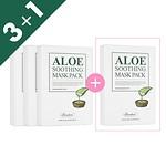 [3+1]ALOE SOOTHING MASK PACK, 10PCS