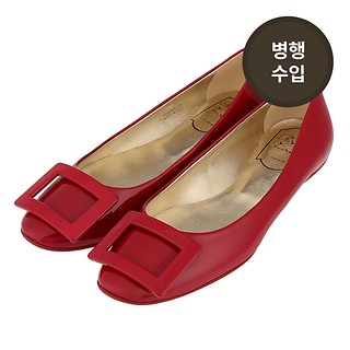 #ROUGE / ROGER VIVIER GOMMETTE BALLERINAS IN PATENT LEATHER 38