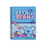 BT21 KOYA SWEET A5 SPRING NOTEBOOK (Purchasable from 2 or more quantities/Displayed price is for 1 quantity)