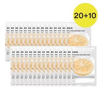 약산성 pH 시트마스크 유자핏 20EA