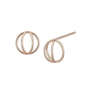 HALO ROUND 14K GOLD EARRING