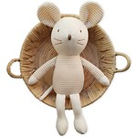 MOUSE WITH PRICKED EARS ORGANIC DOLL 玩偶_SMALL(BROWN)