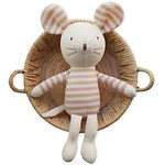 MOUSE WITH PRICKED EARS ORGANIC DOLL 玩偶_SMALL(粉色)