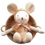 MOUSE WITH PRICKED EARS ORGANIC DOLL 玩偶_BROWN