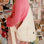#IVORY / OXFORD CROSS BODY BAG