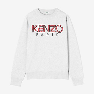 #PEARL GREY / CLASSIC KENZO PARIS SWEATSHIRT_MEN L (050816006968)