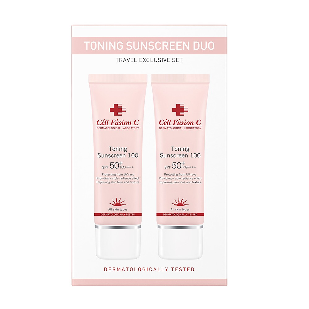 TONING SUNSCREEN SPF50 50ML SET