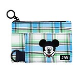 #BLUE CHECK / PATTERN COIN WALLET / MICKEY MOUSE FREE