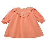 #OR / FLOWER EMBROIDERY FRILL DRESS 100