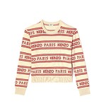#OFF WHITE / ALL OVER KENZO JACQUARD JUMPER_WOMENEN S