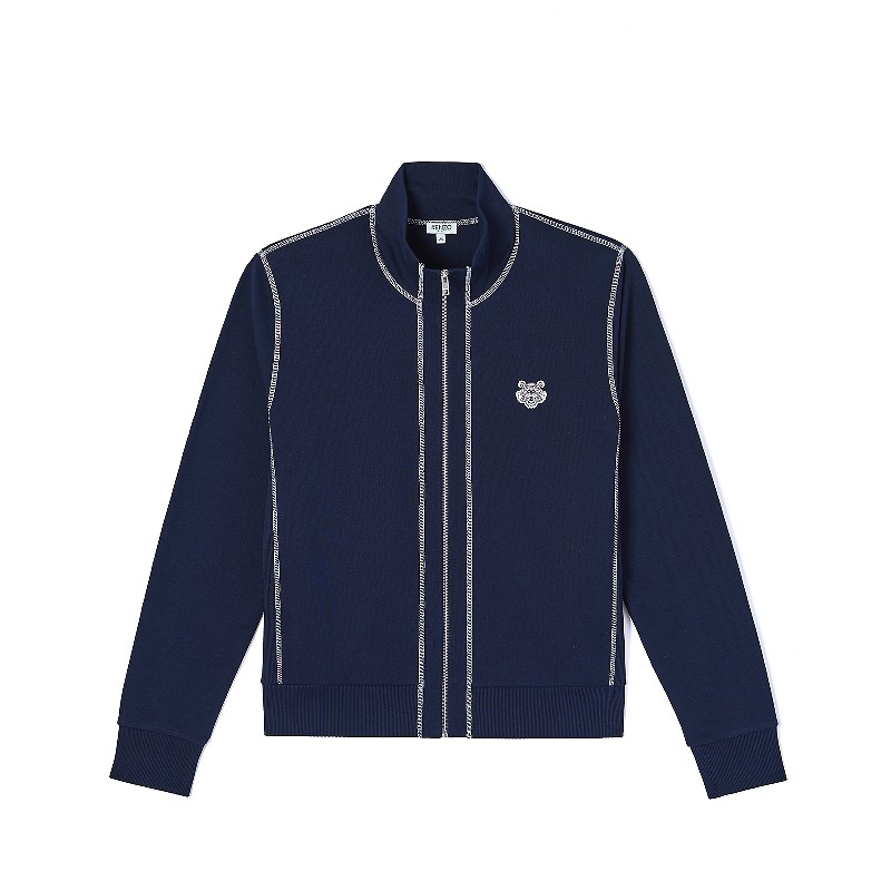 #MIDNIGHT BLUE / TIGER CREST ZIP-UP TRACK JKT_MEN XL