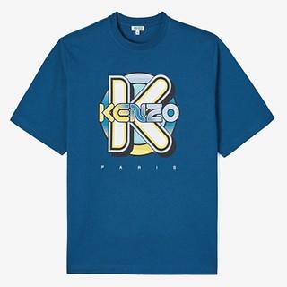 #DUCK BLUE / KENZO WETSUIT OVERSIZE T-SHIRT_MEN M