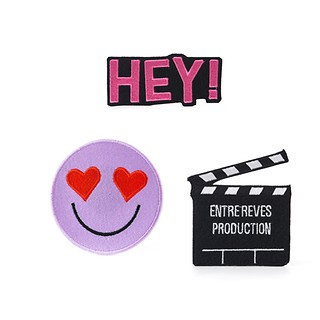 #MULTI / HEY SMILE PATCH SET