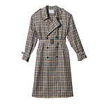 #BE/Checked trench coat