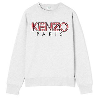 #PEARL GREY / KENZO RTW CLASSIC KENZO PARIS SWEATS_MEN XXL