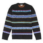 #BLACK / KENZO RTW PERUVIAN STRIPES JUMPER_MEN L