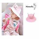 #PINK / CANDY KIDS DOUBLE SIDED HAT - KITTY (OXFORD FABRIC)
