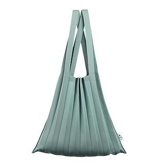 #Sage / Knit Pleats Shoulder SG