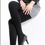 #BLACK / MAGIC SLIM 500M 2X DOUBLE TERRY FLEECE STOCKINGS