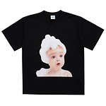 [U] #BLACK / BABY FACE SHORT SLEEVE BUBBLE / 2