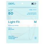 #WHITE / KF80 MEDICAL MASK/M/10P