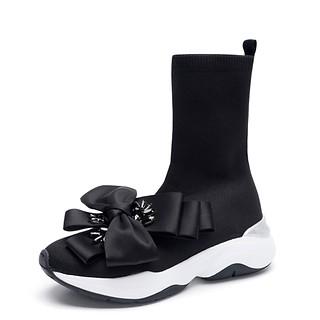 # 블랙 / Menuett sneakers(black)_245